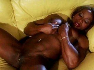 Black muscle female masturbate Video