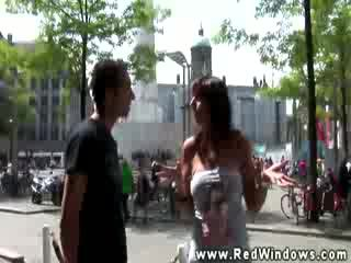 Real tourist in amsterdam looks for slut in high def