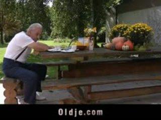 Kind Teeny Encourage A Poor Grandpa With Hard Fuck