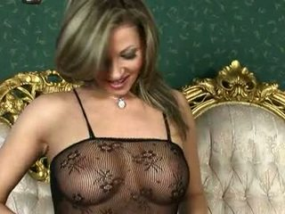 Carnal Blondie Caroline Cage Heats Up In Her Sexy Underware For Some Action