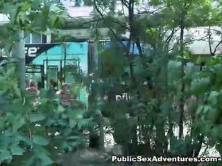 Public Nudity And Porn Activity Nearby Sensuous Blonde