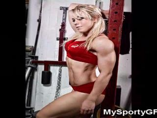 Fitness babes e muscoloso gfs!