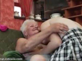 ιδανικό γιαγιά περισσότερο, εσείς λεσβία φρέσκο, ώριμος διασκέδαση