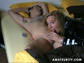 Amateur wife blowjob with sleeping husband
