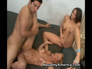Dude Has Erotic 3some Near His Miss And His Companion Kinky Mother