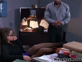 Real masseur stripping glam babe