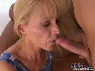 Nicole Moore Mature Facial spunk shot blondie