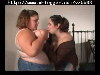 Huge boob BBW lesbians