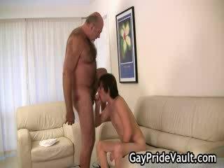 Horny gay bear fucking and sucking