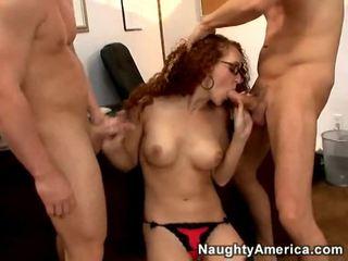 hardcore sex, blowjobs, redhead, big tits