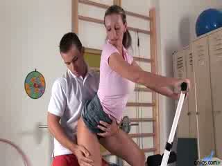 Milf slut gets some dong instead of a work out