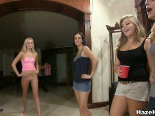 hq coed actie, college, plezier college meisje film