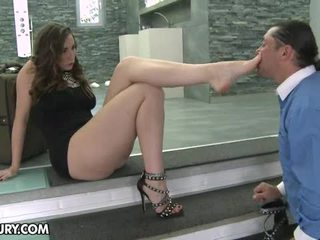 voet fetish, hq sexy benen actie, footjob mov