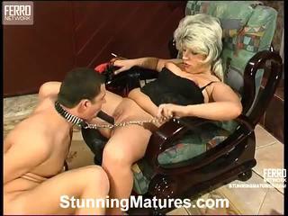 oud porno, groot oma, vrouwelijke dominantie