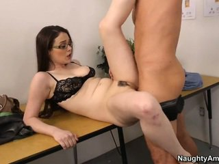 brunette, cute, fucking, student