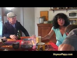 Papy Screws Dame In Imbecilic Foursome