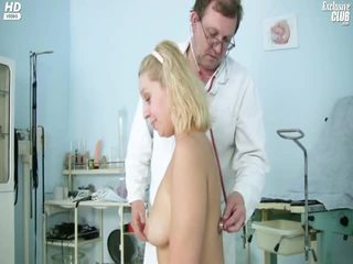 Blonde Tina Getting Cum Hole Speculum Examined By Gyno Doctor