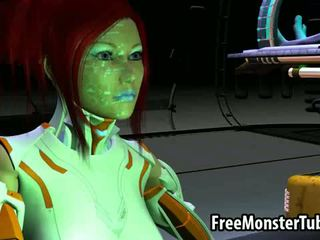 Tasty 3D Redhead Babe Gets Fucked By An Alien