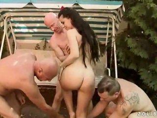 3 boys screwing dan kencing onto hebat harlot