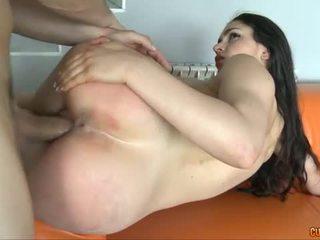 see brunette, big dick sex, hot nice ass vid