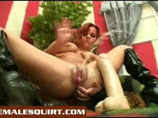 Sexy holky horký solo squirting masturbations