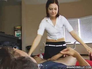 online tiener sex klem, nominale cfnm, plezier geklede vrouw naakte man video-