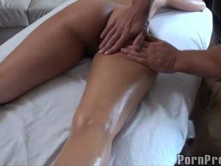 Gorące pieprzenie później olej masaż