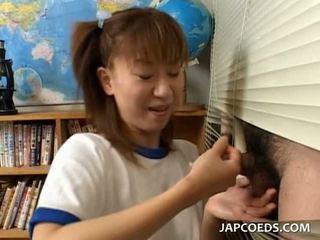 japanse, heet petite, vers schoolmeisje