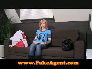 FakeAgent 19 Year Old Student Perfect Creampie