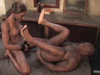 Shemale fuck guy in missionary position