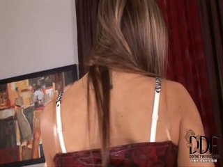 kwaliteit brunette, ideaal close-up thumbnail, vibrator seks