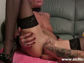 Fisting Her Massive Snatch Till It Squirts