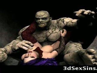 Scary ogres bang 3de dekleta!