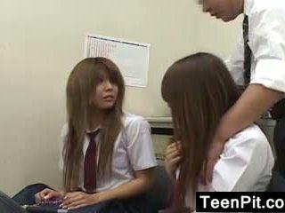 Japanese Schoolgirls Get Black Mailed