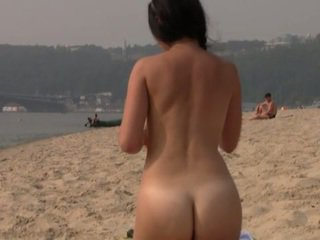 you beach, fun public scene, great nudist