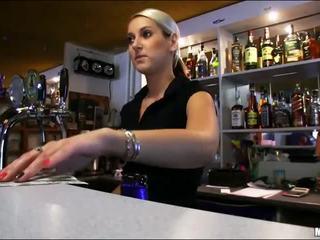 Sweet bartender Lenka fucked during work