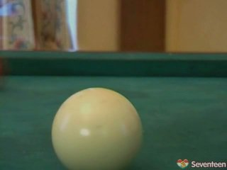 Youthful Sapphic Dolls Onto Pool Table
