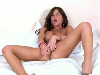 McKenzie Miles Lie On Her Daybed Dildoing Her Moist Love Tunnel