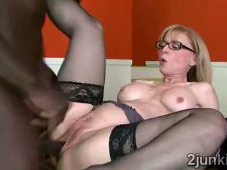 Stunning Blonde Mommy In Erotic Lingerie Helps Son To Keep
