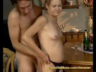 My skinny mom needs young cocks