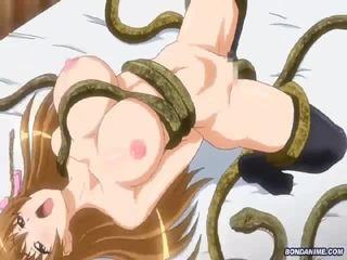 Tentacle snake beast rages horny