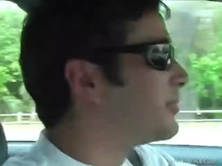 Hot Tourist Sucks Off Fake Cop