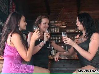 Three Stunning Beauties Celebrating