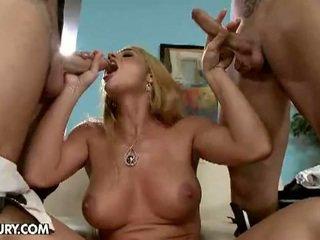 hq grote lul scène, dubbele penetratie, grote borsten vid