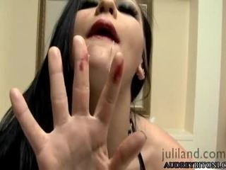 Sexy And Gorgeous Audrey Bitony Pleasures Herself In Bed For An Excellent Orgasm