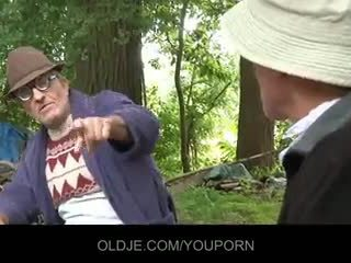 Old farts pleasing künti jatty in the woods