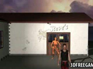 Sexy 3D Cartoon Zombie Babe Rides A Hard Cock