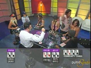 Blondýnka puma swede wins a jackpot uvnitř pokerový