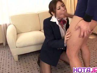 Japanese stewardess yuna shiina in hardcore action