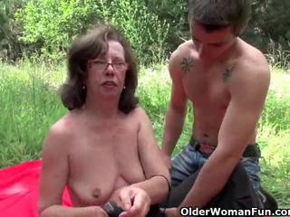Garry gets her asshole invaded outdoors